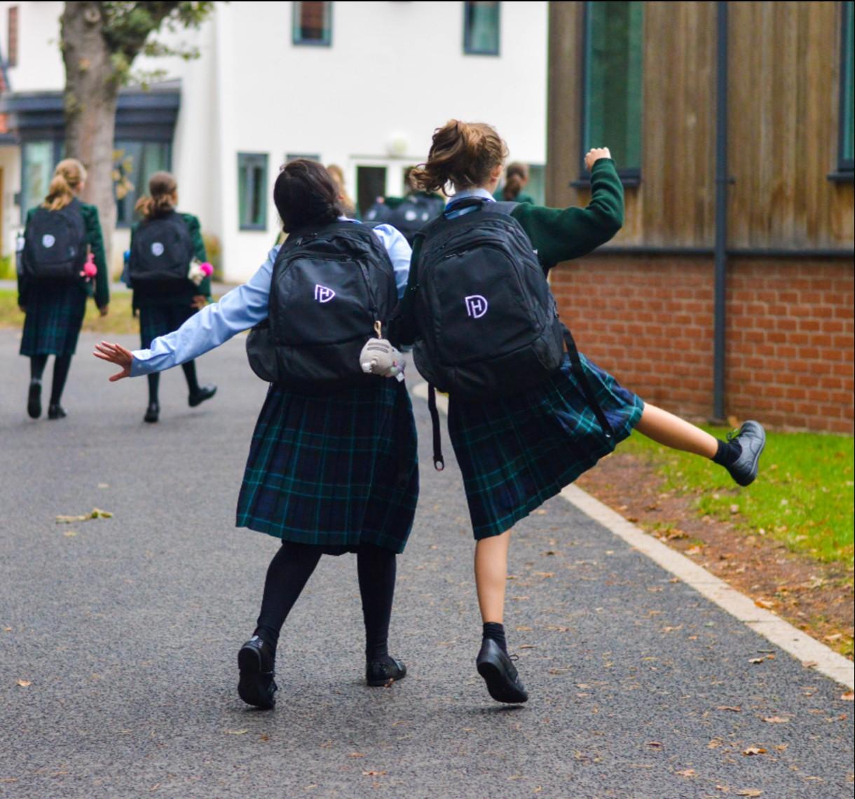 Downe House Scholars walking