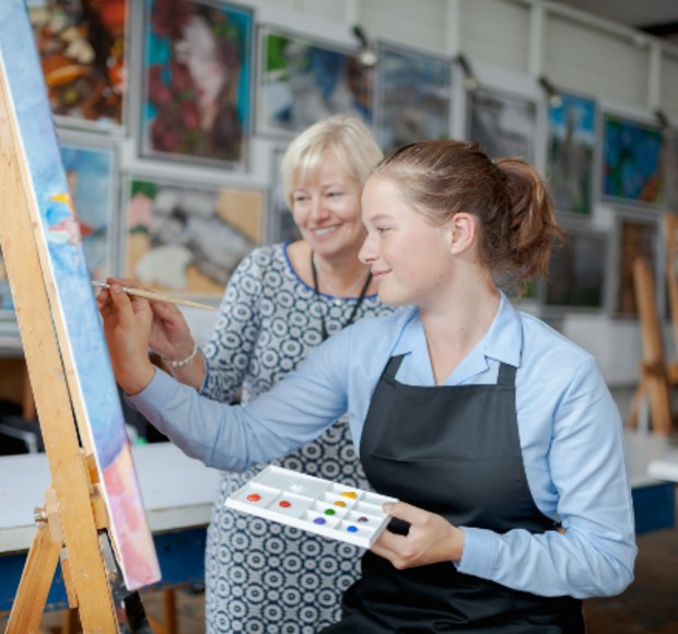 Life at Downe House Art Class